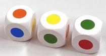 Kleuren dobbelstenen, 3 cm
