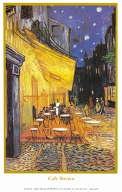A3 voorbeeldplaat Van Gogh´s Nachtcafé