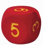 Schuimdobbelsteen met cijfers
