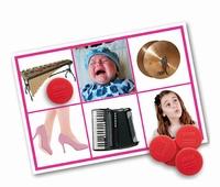 Geluidenlotto van Mensen & Muziekinstrumenten