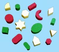 Verfsponsjes -Geometrische figuren-
