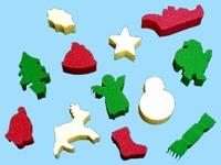 Verfsponsjes -Kerstmis-
