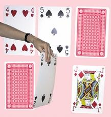 Set Hoger of lager speelkaarten, rood